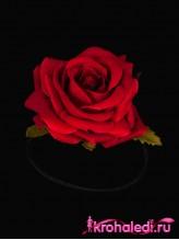 Резинка Роза алая
