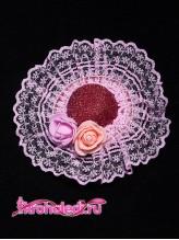 Зажим Барышня розовый