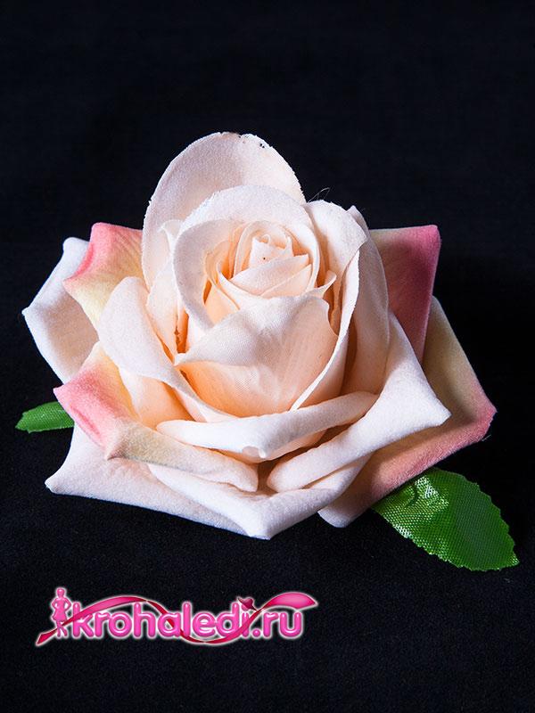 Зажим-брошь Роза чайная