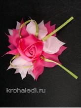 Зажим Роза на розовом