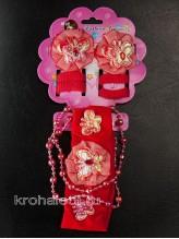 Комплект аксессуаров Модница красный