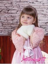 Детская муфта Леди кремовая