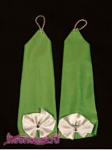 Детские перчатки Алиса зеленые
