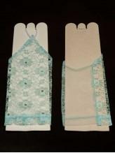 Детские перчатки Ажур голубые