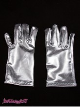 Детские перчатки Диско серебро