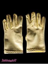 Детские перчатки Диско золото