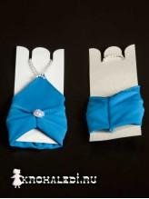 Детские перчатки Кокетка синие