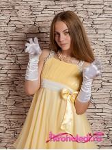 Подростковые перчатки Леди белые
