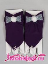Детские перчатки Пуховка фиолетовые
