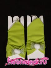 Детские перчатки Пуховка фисташковые