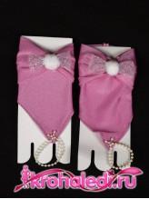 Детские перчатки Пуховка лиловые