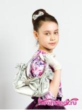 Детская сумочка Кокетка серебро