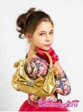 Детская сумочка Кокетка золото